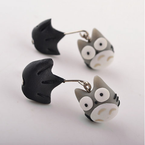 Totoro Earrings Handmade