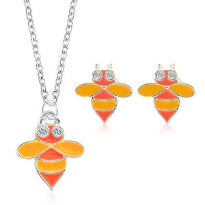 Cute Kids Necklace & Earrings Set