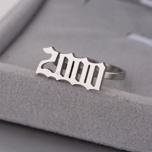 Year Stainless Steel Rings