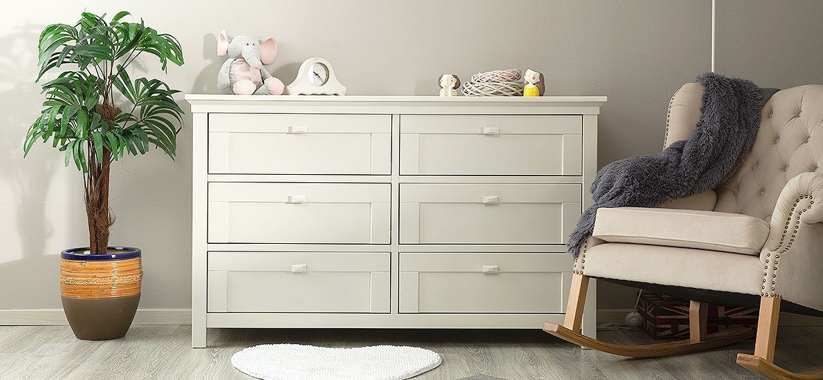Baby Room Solid Wood Double Dresser