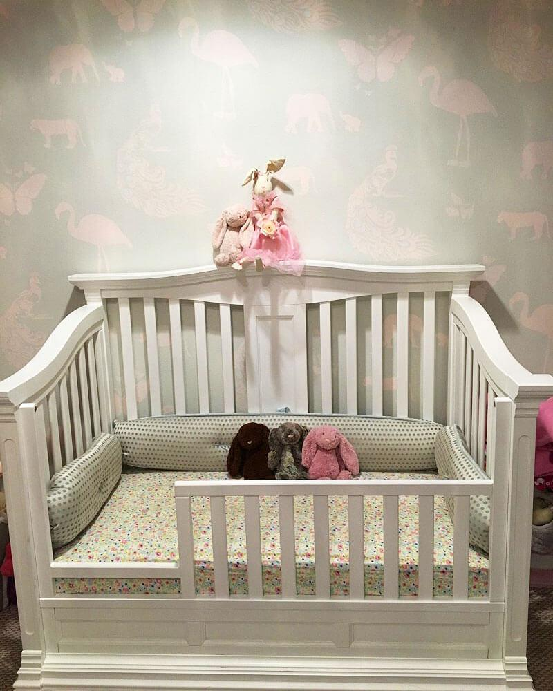 Solid Wood Baby Crib - Romina Furniture