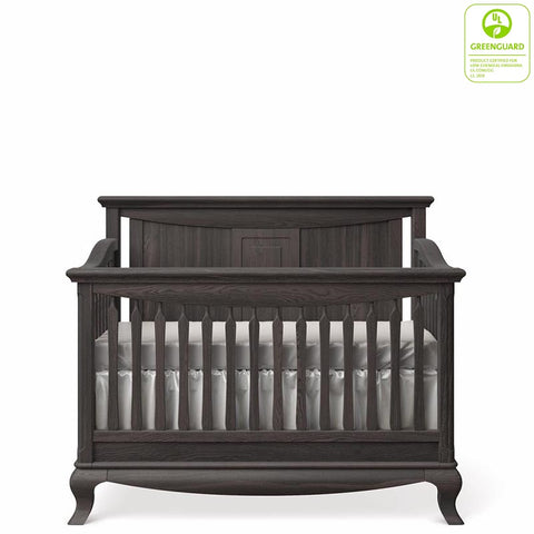 Antonio Convertible Crib Solid Back By Romina Furniture Greenguard