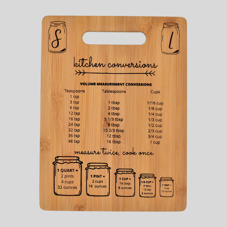 Bamboo Engraved Cutting Board: Kitchen Conversions
