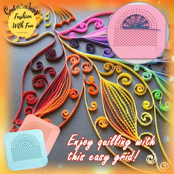 Easy Paper Quilling Board