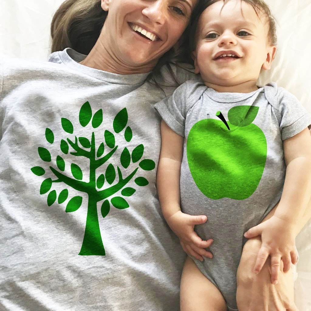 Tree(Parent) And Fruit(Baby)-Matching Shirt Set