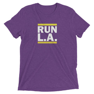 Run L.A T-Shirt | Purple and Gold