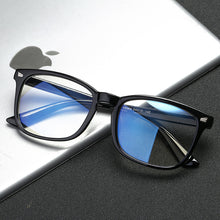 Load image into Gallery viewer, Blue Light Blocking Glasses Women Men Vintage Eyeglass Woman Frame Oversize Square Black Men Optical Computer Reading Eyeglasses