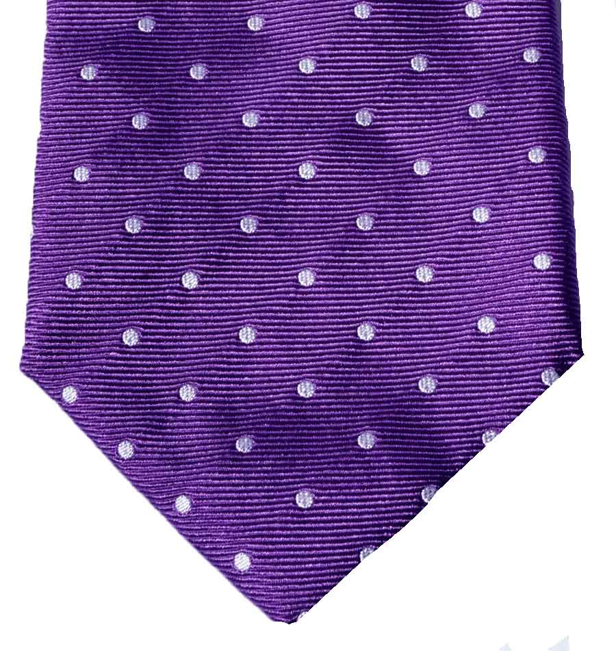 CORBATA PURPLE POLKA DOTS