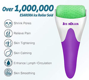 ESARORA Ice Roller for Face & Eye, Puffiness, Migraine, Pain Relief and Minor Injury, Skin Care Products