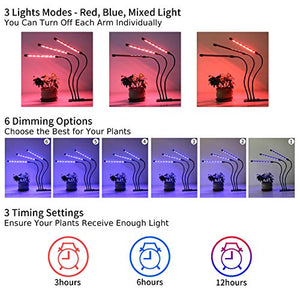 Grow Light Plant Lights for Indoor Plants LED Lamp Bulbs Full Spectrum