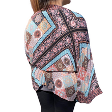 Load image into Gallery viewer, Floral Print Kimono Wrap