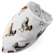 Load image into Gallery viewer, Kerchief Bib - Chickens