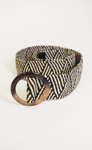 Woven Belt with Circle Buckle