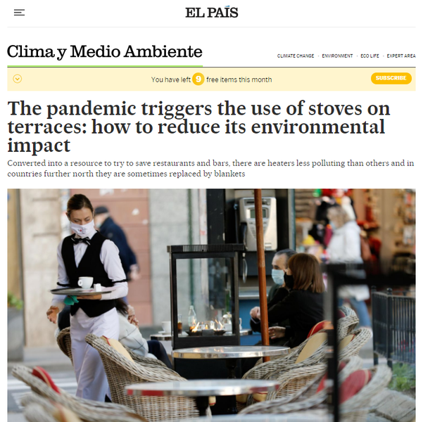 FEATURE: The pandemic triggers the use of stoves on terraces: How to reduce its environmental impact