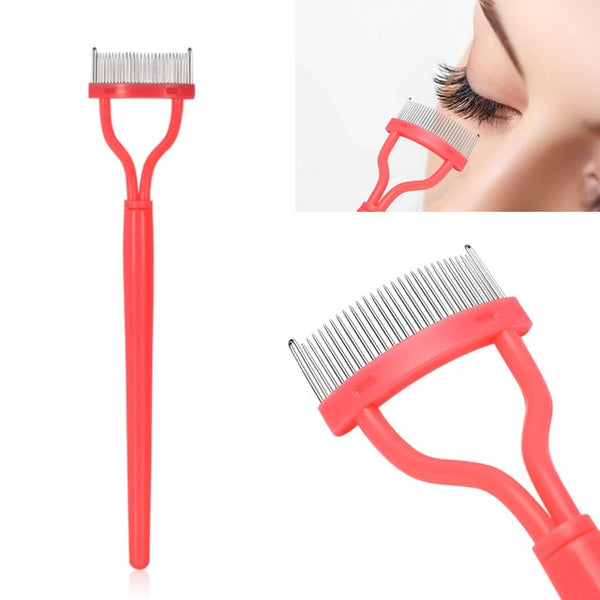 1pc Pink Color Eyelash Comb