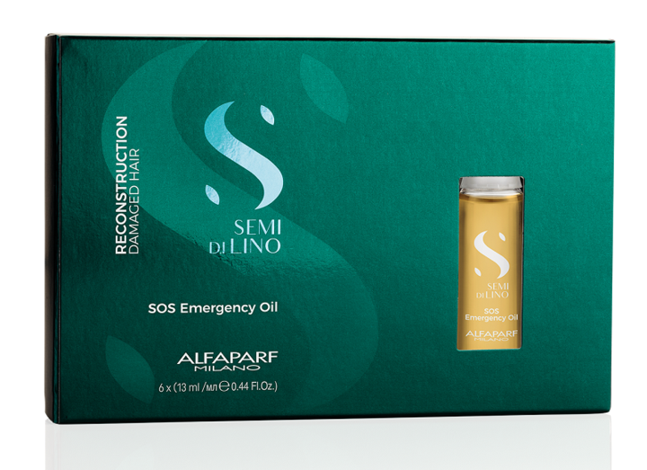 Load image into Gallery viewer, Alfaparf Semi Di Lino Reconstruction SOS Emergency Oil - 6 x 13ml