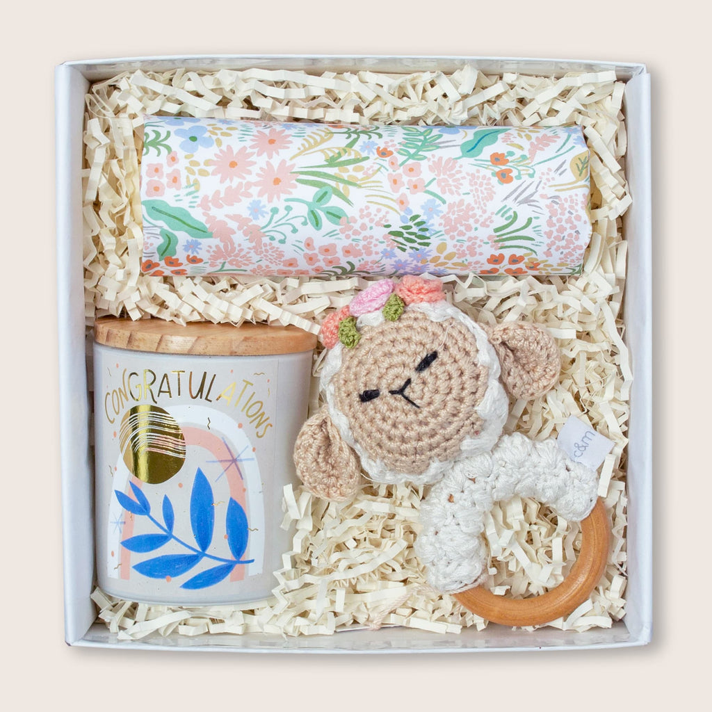 Modern gift box for new moms and babies.