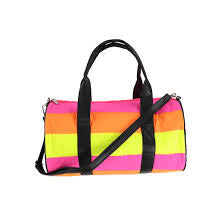 Neon Stripe Duffel Bag