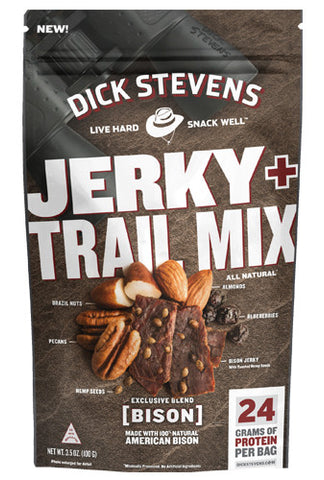 Dick Stevens Jerky + Trail Mix - Bison & Hemp 3.5 oz.