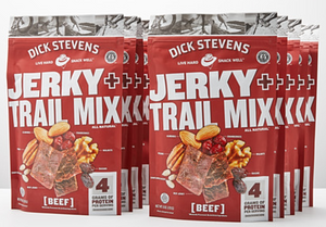 Dick Stevens Jerky + Trail Mix - Beef 6 oz. - 10 Pack