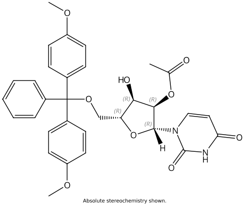 Uridine, 5'-O-[bis(4-methoxyphenyl)phenylmethyl]-, 2'-acetate
