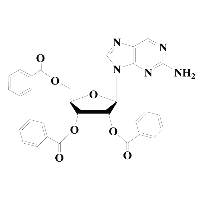 2-Aminopurine riboside tribenzoate