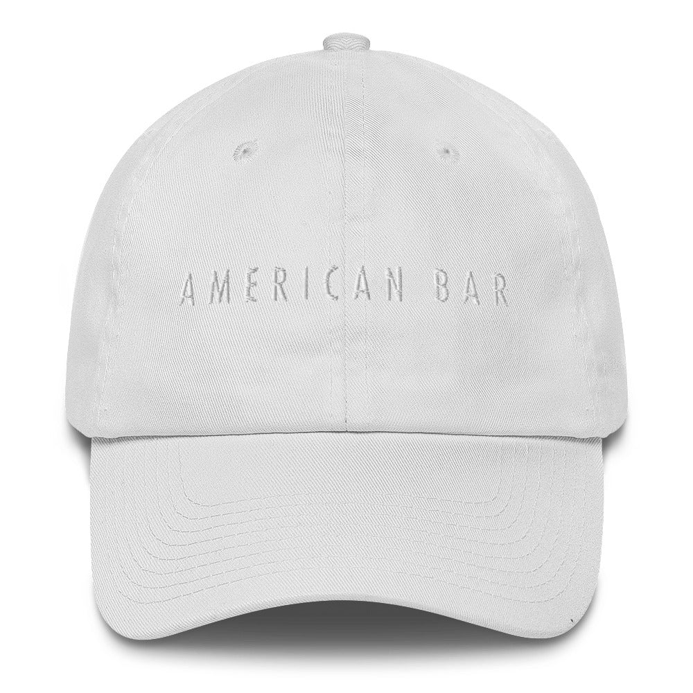 White-on-White Embroidered American Bar Hat