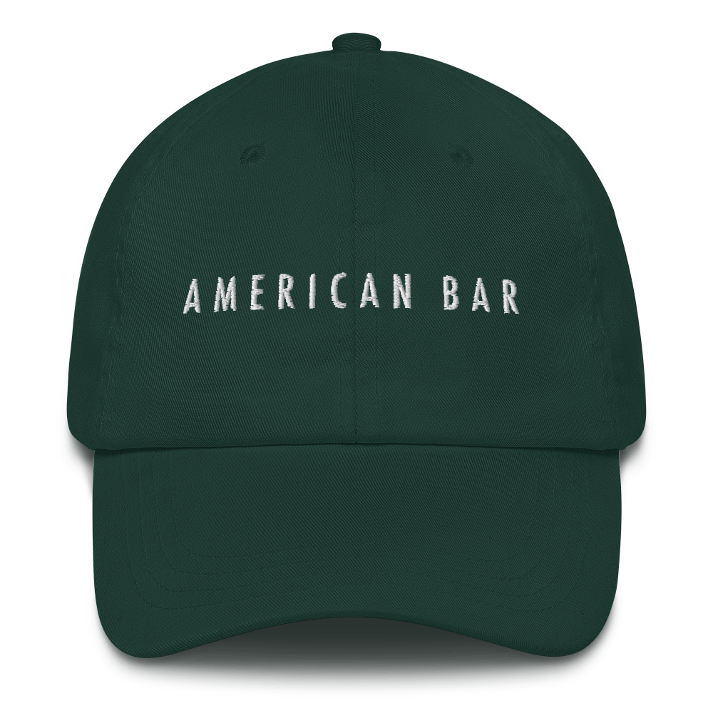 American Bar Embroidered Green/White Hat