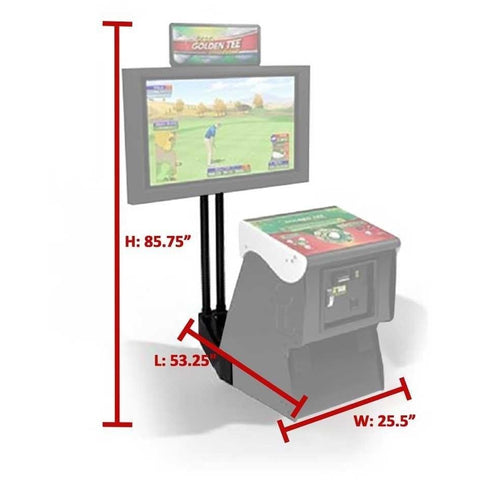 Monitor Stand For Golden Tee Pedestal