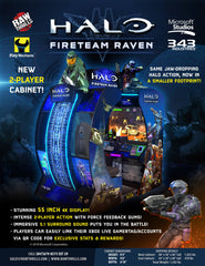 Raw Thrills Halo Fireteam Raven 2 Player