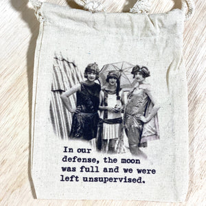 Vintage Canvas Gift Bag-In Our Defense(Small)