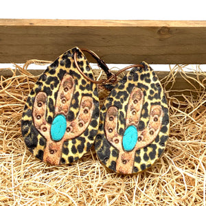 Pretty Things-Brown Cactus Teardrop Earrings