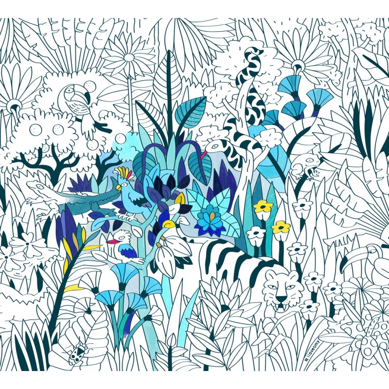 Tropical XXL Coloring Poster PAMM Shop