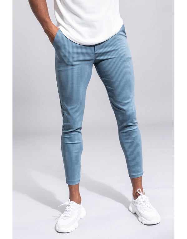 Pantalon broek Light blue Streep