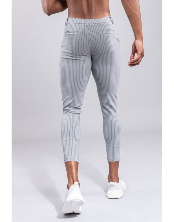 Pantalon broek Light grey Streep