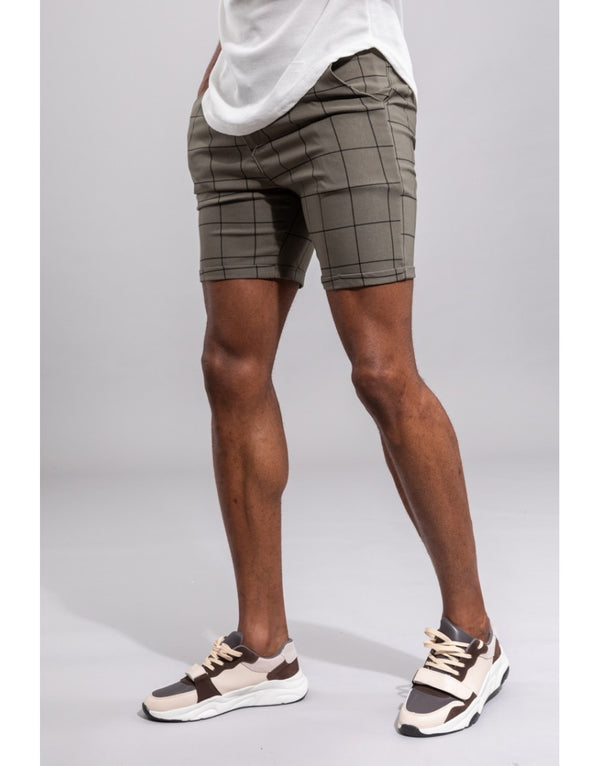 Chino Short green black line