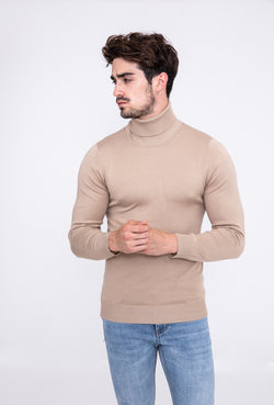 Turtleneck camel basic