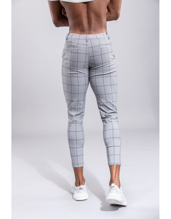 Pantalon broek Grey Black lines