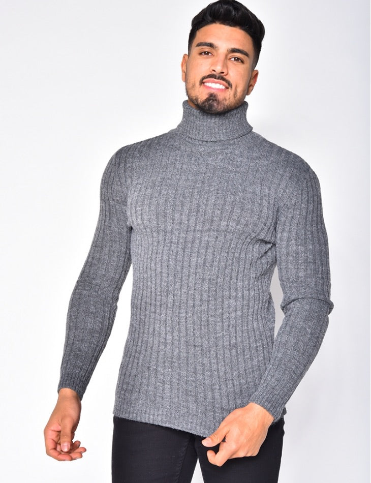 Turtleneck sweater grey