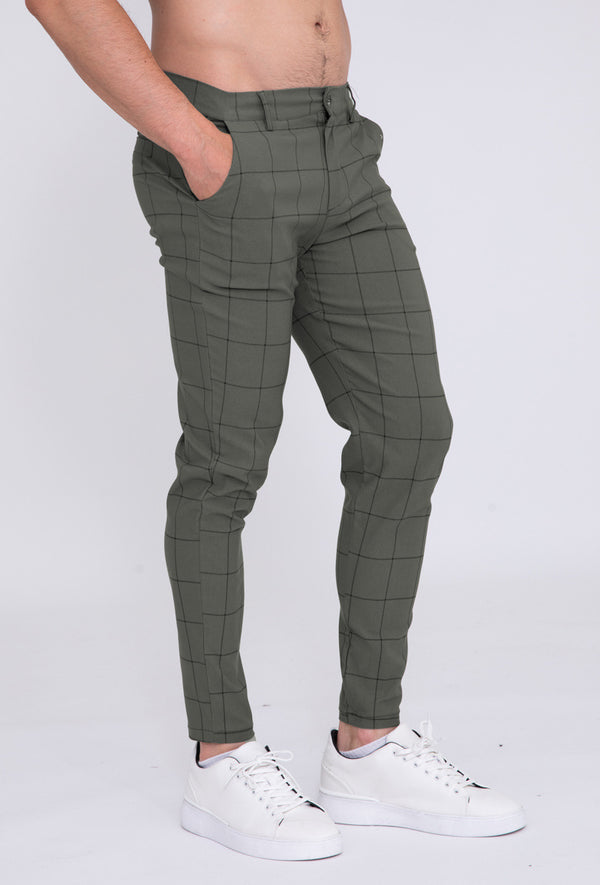 Pantalon broek Khaki Black square