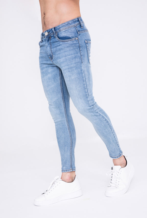 Jeans skinny stretch light blue
