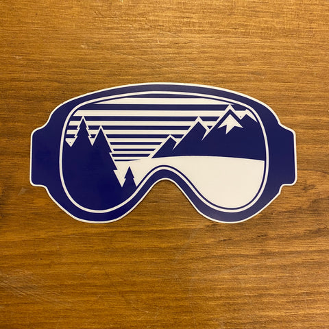 The Mountain Air Goggles Sticker