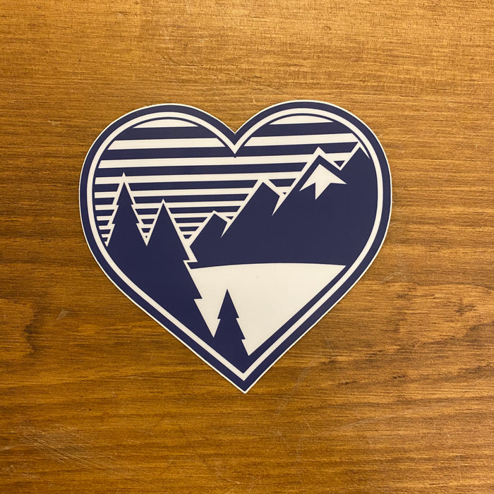 The Mountain Air Heart Sticker