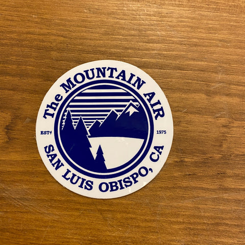 The Mountain Air Classic Round Sticker