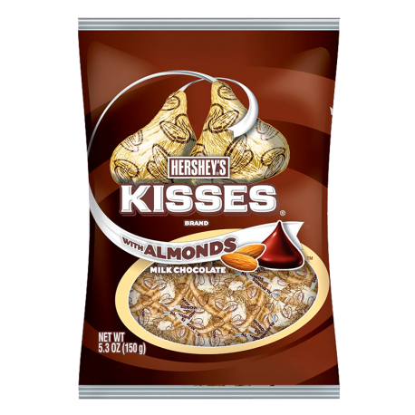 Hershey's Kisses Almond Peg bag (150g)