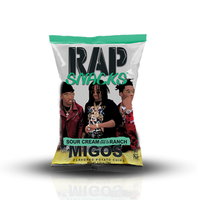 Rap Snacks Sour Cream with a dab of Ranch 2.75oz
