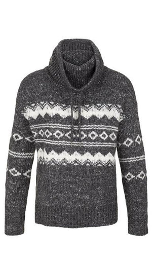 TRIBAL - JACQUARD COWL NECK SWEATER