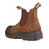 Blundstone 169 - Work & Safety Boot Rubber Toe Cap Crazy Horse Brown