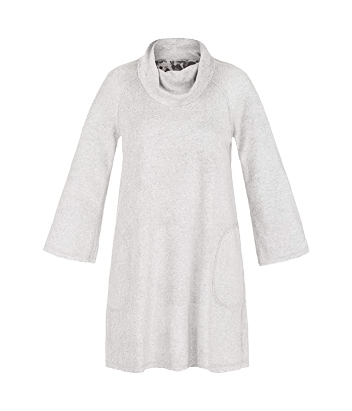 TRIBAL - SOFT FLEECE REVERSIBLE COWL NECK DRESS