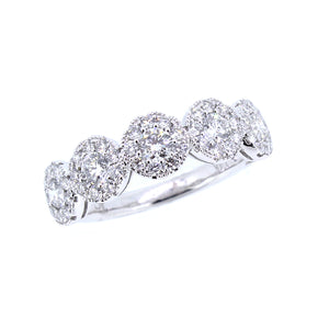 14KT white gold ring with 1.03ctw round diamonds, G/H-SI, se...